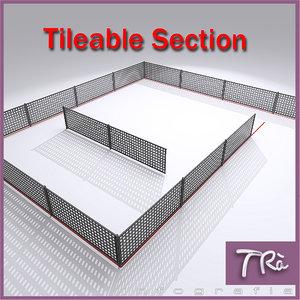 fence tileable 3D model