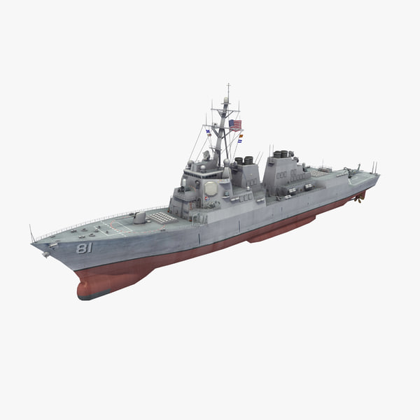 3D model arleigh burke class destroyer