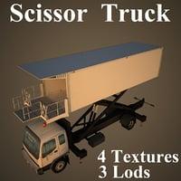 3D model scissor truck basic