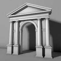 tuscan order arch vignola 3D model