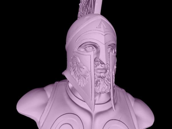 3D model leonidas king sparta 480