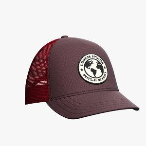 baseball hat 4 3D