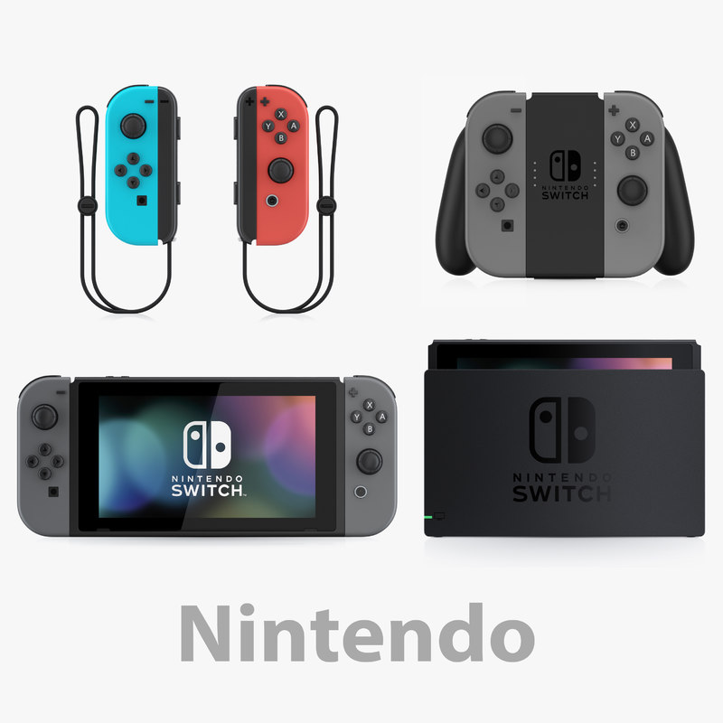3D nintendo switch complete model