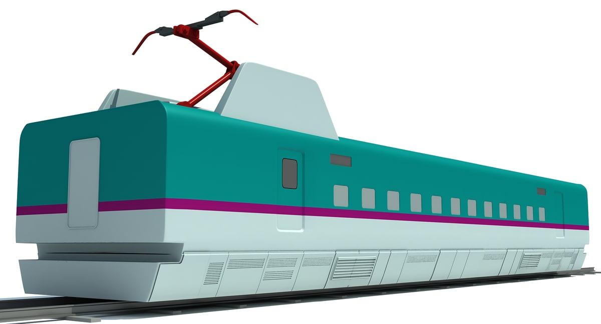 speed train passenger car model