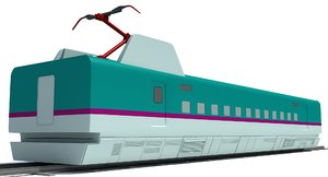 speed train passenger car model
