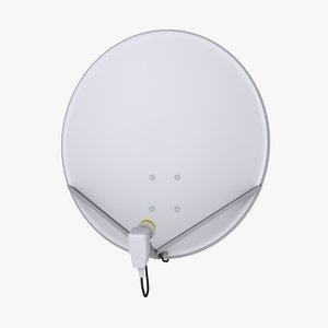 3D model ku band satellite dish