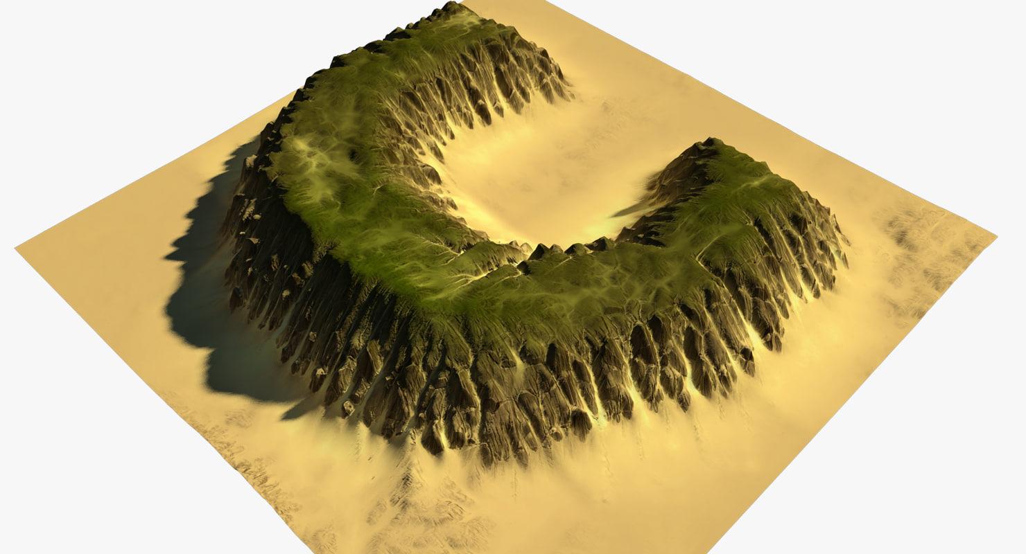 alphabet terrain c 3D model