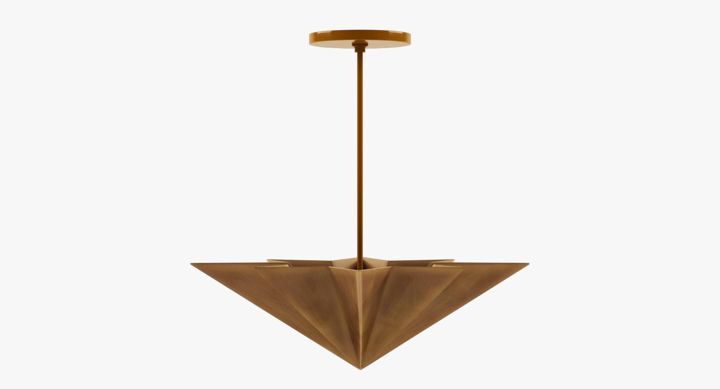 3D chandelier pendant