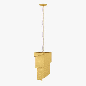 solid brass chandelier 3D