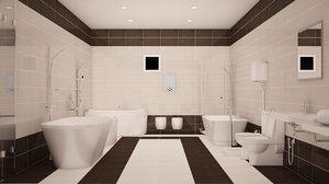 3D model accesories bathroom
