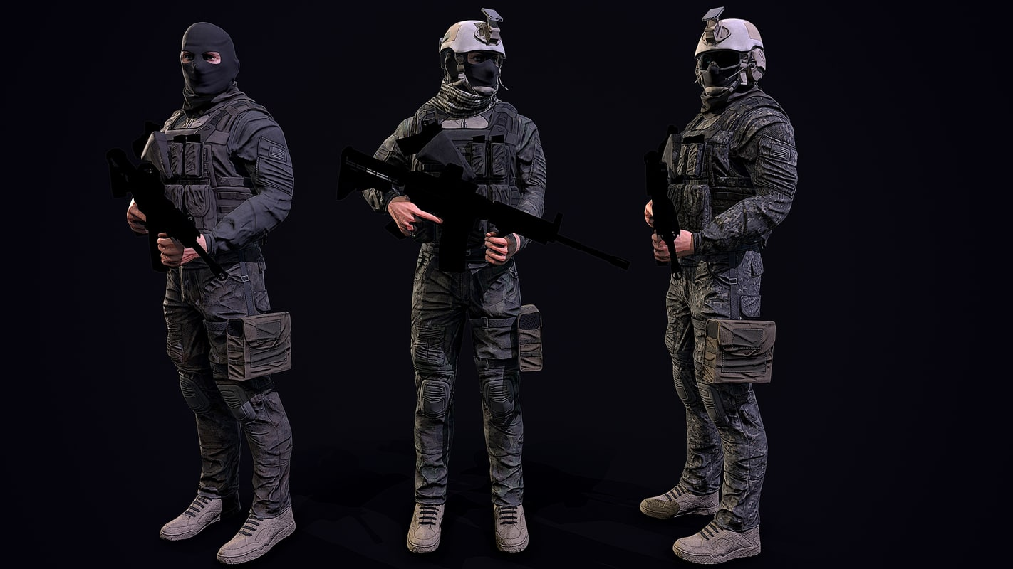 3D human military