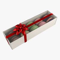 3D box macaron gift