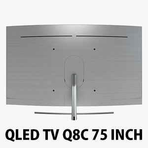 samsung qled tv q8c 3D model