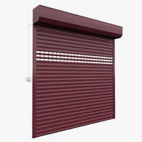Animated rolling garage door/sutter