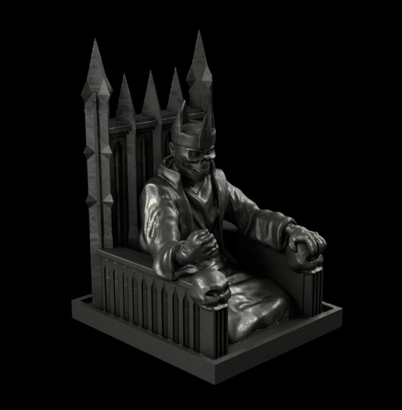 sculpture lich king 3D model