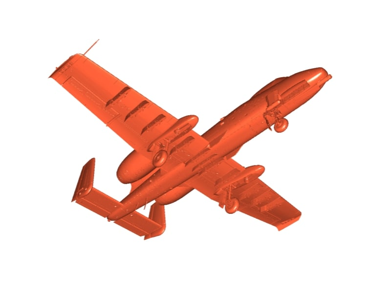 fairchild republic a-10 thunderbolt 3D model