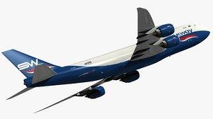 boeing silkway west airlines 3D model