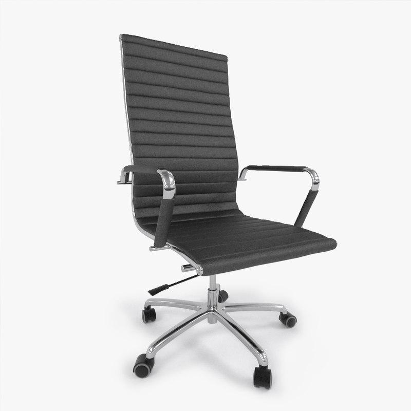 vitra aluminium chair 3D