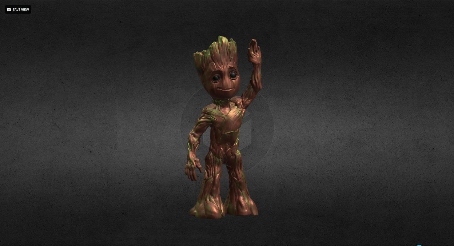 groot guardians galaxy 3D model