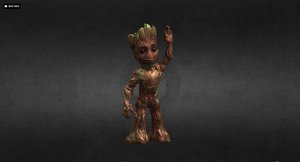 groot guardians galaxy 3D model
