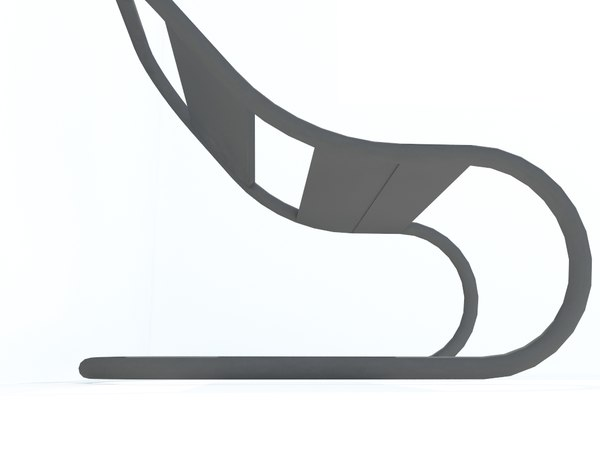 3D model black plastic chair