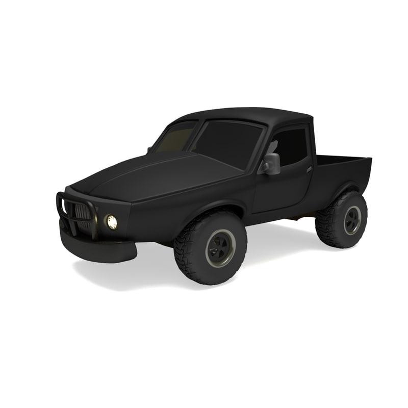 3D 4x4 vehicle