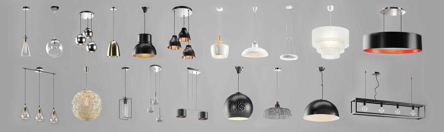 3D model chandeliers lights lamps