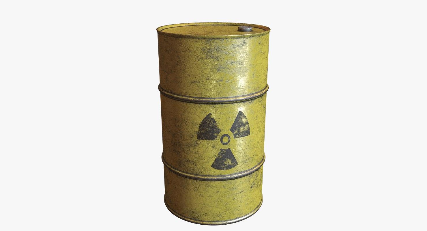barrel nuclear 3D model