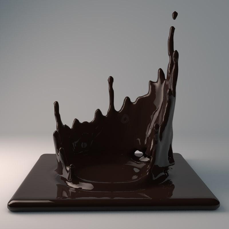 products splash chocolate 3D model