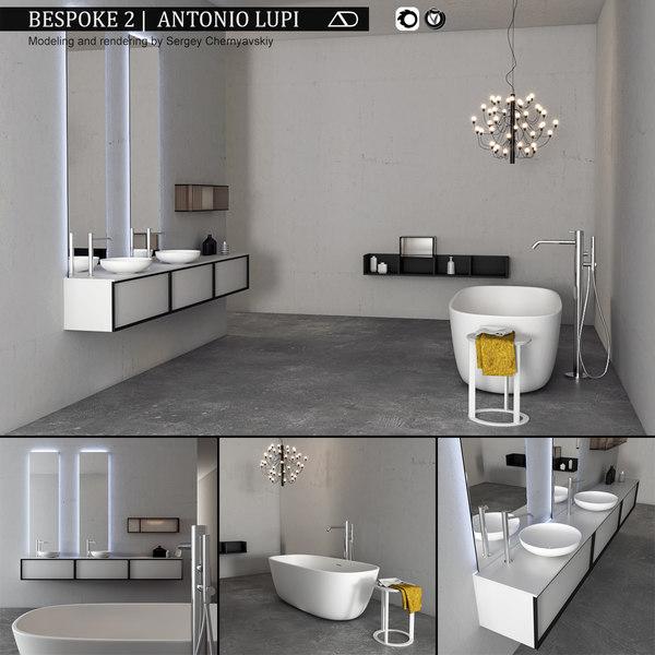 bathroom furniture set bespoke 3D model