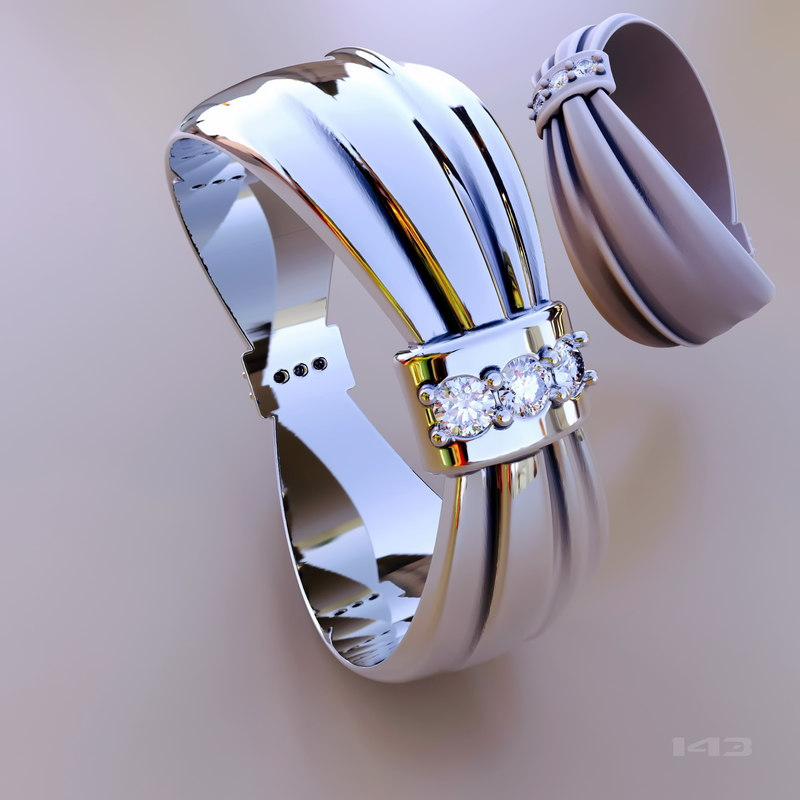 stl printing gold 3D model