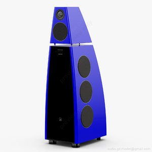 floorstanding meridian dsp8000 blue 3D model