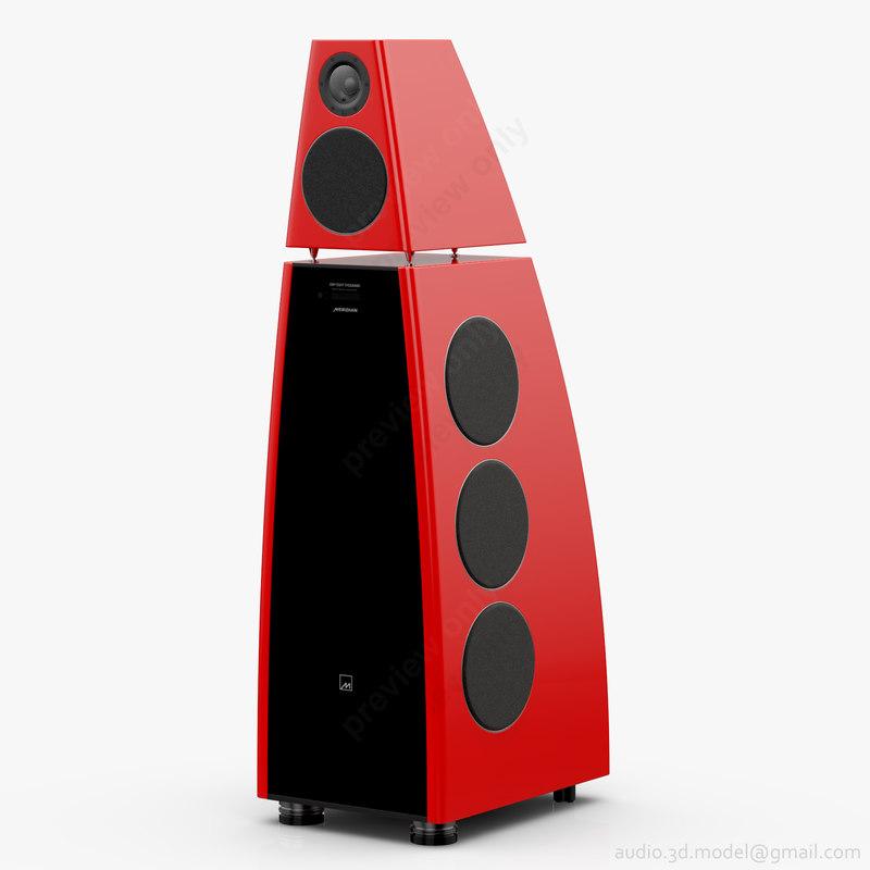 3D model floorstanding meridian dsp8000 red