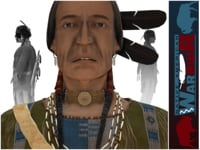 native american warrior 3D