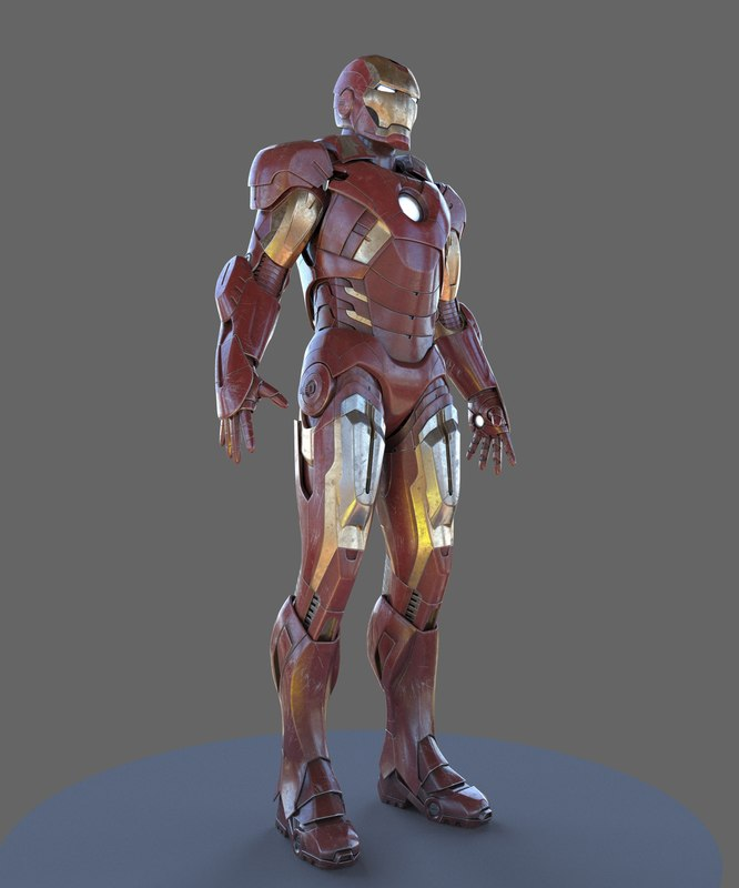iron man mk7 3D model