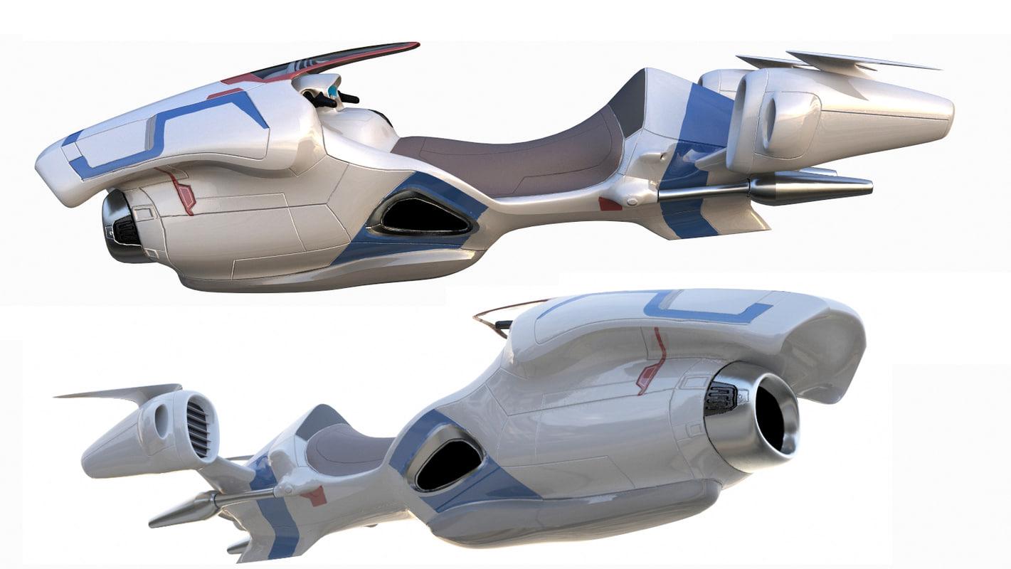 3D hover bike 2 model