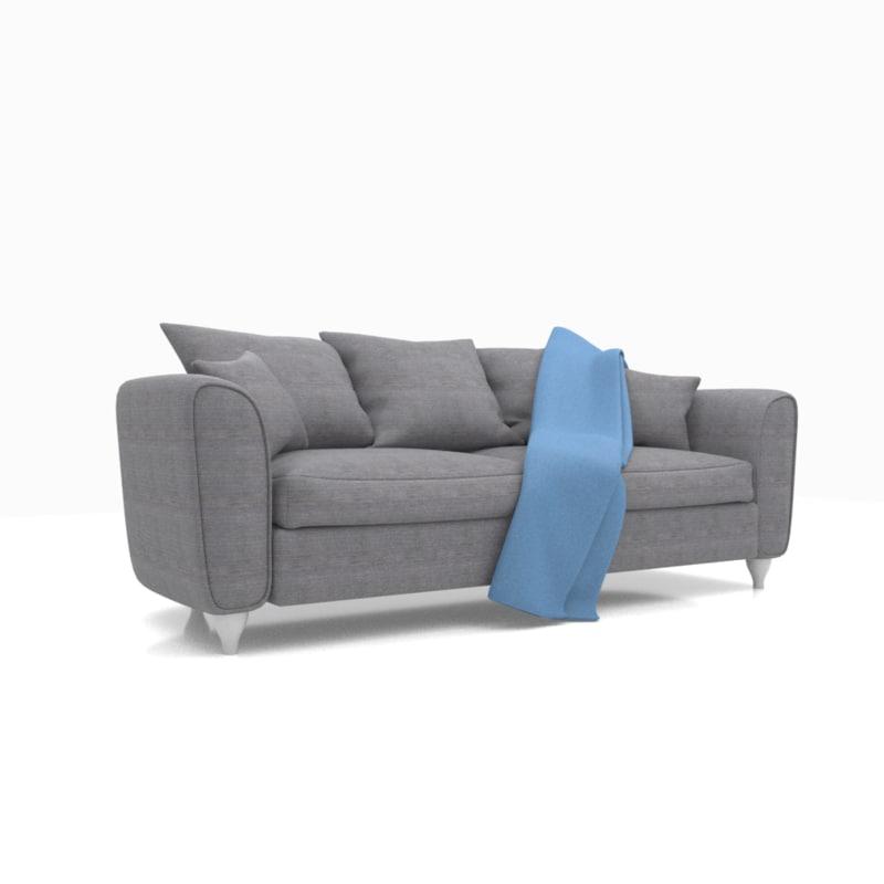 3D model render sofa