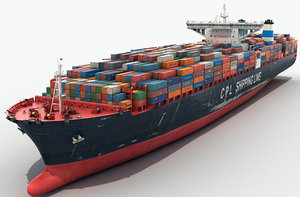 container ships 3D