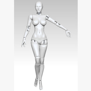 3D ball jointed doll model