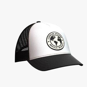 baseball hat 6 3D model
