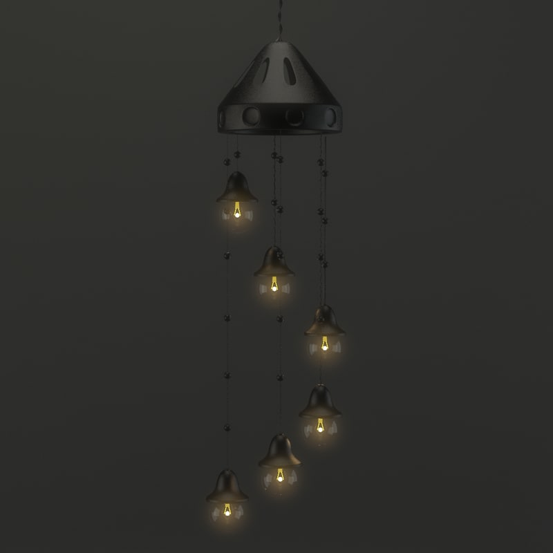 3D model light indian hanging