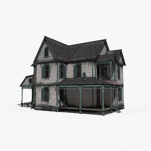 3D old house interior