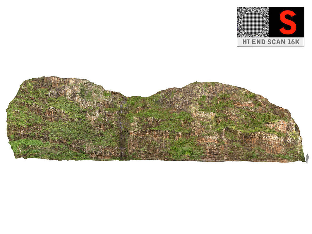 3D model madagascar canyon mega cliff