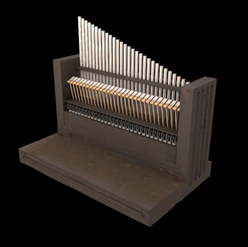 mini celesta keyboard small 3D