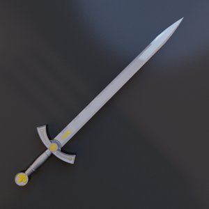 3D sword medieval celtic
