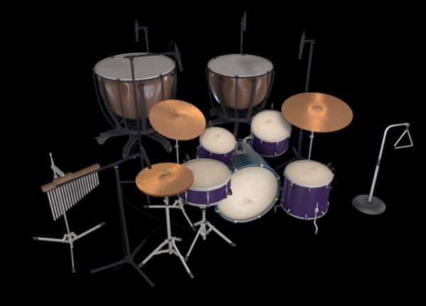 large drum kit model