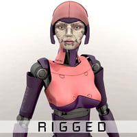 humanoid rigged 3D model