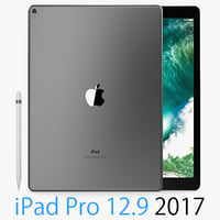 3D apple ipad pro 12 model