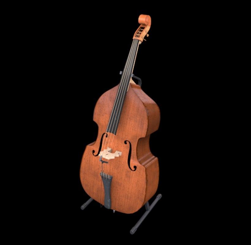 upright bass 3D