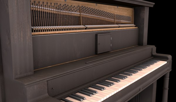 wooden upright piano model
